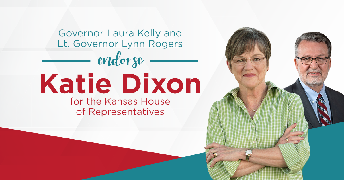 Endorsed By Governor Laura Kelly And Lt. Governor Lynn Rogers